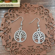New the ancient silver earrings tree@3