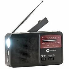 Motorola Mwr800C Atmos Rechargeable Power Bank Weather Radio w/ Flashlight