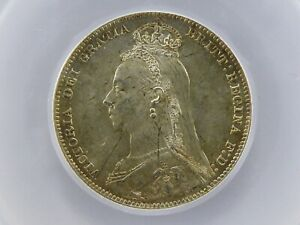 1890 Shilling Coin Graded & Encapsulated LCGS 82, Choice UNC MS64-65 ESC 1357
