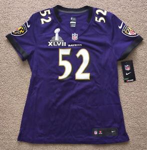 BALTIMORE RAVENS RAY LEWIS Jersey Nike Women's Shirt Super Bowl. Retail $120.00