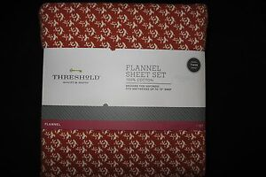 Threshold flannel sheet set - Burnt Orange Patterned TWIN NIP