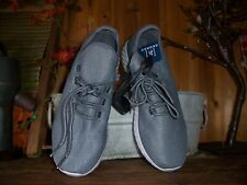 GEORGE MENS LIGHT WEIGHT ATHLETIC SNEAKERS SHOES MEMORY FOAM LACE UP GRAY SIZE 8
