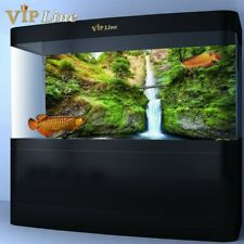 Waterfall Bridge Aquarium Background Poster HD Fish Tank Decor Landscape