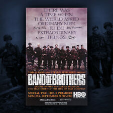 Band of Brothers Poster #2 Autographed by Don Malarkey + 3 101st Airborne vets!