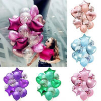 14pcs/set Wedding Birthday Balloons Latex Foil Kids Boy Girl Baby Party Bu