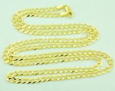 14k Solid yellow gold Cuban curb chain necklace Italian 8.60 gram #4519 20 inch