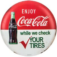 """Vintage Style 12"""" Coca Cola Gas Station Signs Man Cave Garage Decor Oil Can"""