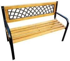 Outdoor Wooden 3 Seater Classic Lattice Garden Park Bench Seat Kids Adult Bench