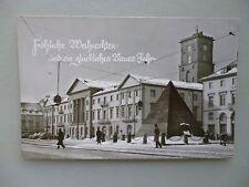 Ansichtskarte Karlsruhe Rathaus 50/60er?? Fröhliche Weihnachten