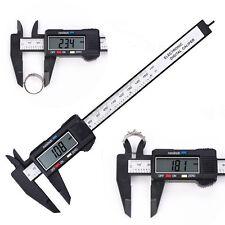 6inch LCD Digital Electronic Vernier Caliper Gauge Micrometer Carbon Fiber 150MM