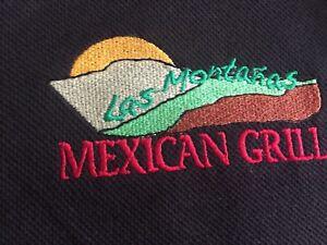 Las Montanas Mexican Grill Murrieta California Employees Work Shirt Sleeve M New