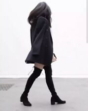 STUART WEITZMAN Elevated Over the Knee Black Suede Boots Size 5.5 M