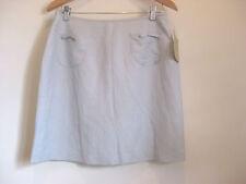 NWT Jump Size 14 Light blue linen blend all occasion mini skirt