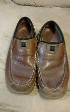 size 11m brown leather clark loafers