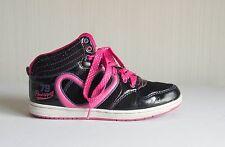 Pineapple Dance'79' (Debenhams)- girl's black + Pink Trim dance trainers UK 3