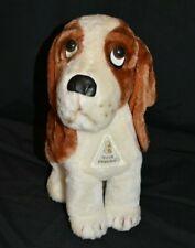 Hush Puppies Stuffed Animal Vtg 80s Advertising Dog Puppy Plush Basset Beagle