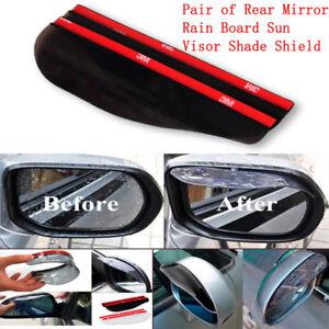 Pair Of Rearview Mirror Rain Board Eyebrow Sun Visor Shield For RV Truck Car SUV
