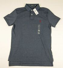 NEW Mens Polo Ralph Lauren Interlock Standard Fit Polo Shirt NWT Basic Navy Blue