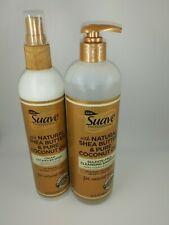 Suave Professionals Cream Detangler Spray And Sulfate-Free Cleansing Shampoo
