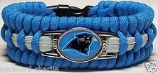 Carolina Panthers Trilobite Style Blue & Gray Wide Handmade Paracord Bracelet