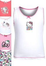 Girls Kids Toddlers Hello Kitty Soft Cotton Sleeveless Underwear Vest Top 1½-8yr