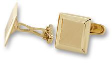 Man's Cufflinks 10k Brushed Yellow Gold Square Shape