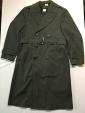 LKNW US Army AG-44 Trench Coat 36R Green Belted Overcoat Wool Gabardine