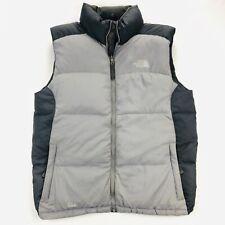 The North Face Mens Medium 550 Goose Down Puffer Gray Full Zip Vest