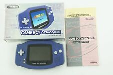 Nintendo Gameboy Advance Violet Console GBA Box From Japan