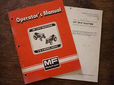 MASSEY FERGUSON 1010 OPERATORS MANUAL (1983) MF 1449042M1 AND SUPPLEMENT (1984)