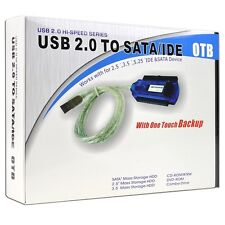 "IDE/SATA to USB 2.0 Cable Adapter w/One Touch Backup - Turn Your 2.5""/3.5""/5.25"""