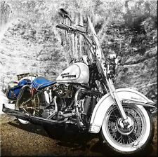 Harley Davidson Oldtimer Motorrad & Auto Bilder Leinwand Abstrakt XXL 323Ab