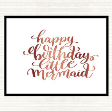 Rose Gold Birthday Mermaid Quote Mouse Mat Pad