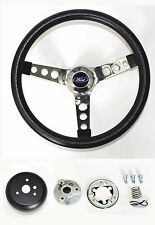 "New! 1965-1969 Ford Mustang Steering Wheel Black 14 1/2"" Ford Center cap"
