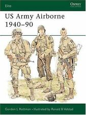 US Army Airborne 1940-90 Illus Osprey Book Uniforms Equipment Weapons War