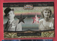 JAMES CAGNEY GLORIA STUART WORN SWATCH RELIC CARD #d250 AMERICANA CO-STARS