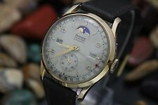Vintage BANNER By RECORD Datofix Triple Date Moonphase Cal. 107 Men's Watch