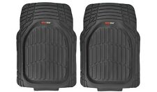 2pc All Weather Deep Dish Delivery CARGO VAN Rubber Car Floor Mats - Odorless