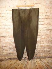 Wide Leg Pants Drawstring Olive Dark Green Tribal Ethnic Costume Sheer