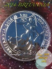 "2014 Royal Mint ""Britannia"" 1oz .999 Fine Silver Coin 
