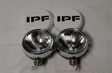 IPF 900 ROUND 4WD SPOT DRIVING FLOOD LIGHTS + IPF WIRING LOOM & CLEAR COVERS
