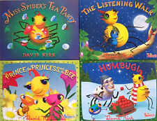 LITTLE MISS SPIDERS TEA PARTY,LISTENING WALK,PRINCE PRINCESS BEE,HUMBUG 4BKS NEW