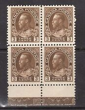 Canada #108 VF/NH Lathework D Inverted Scarce Block