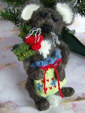 """Have A Very Mice Christmas"" -Tree Decorations/Trims - Easy Toy Knitting Pattern"
