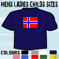NORWAY NORWEGIAN FLAG EMBLEM T-SHIRT ALL SIZES