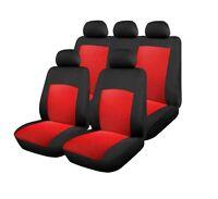 UNIVERSAL Sitzbezug Sitzbezüge Schonbezüge 3ZIP Schonbezug Set Rot Komplettset