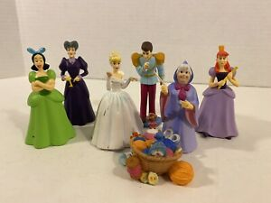 Disney Store Cinderella Figurines From Deluxe Figurine Set - Lot of 7
