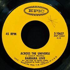BARBARA LOVE-Across The Universe & Alice-Promo 45-THE BEATLES-EPIC #5-10637