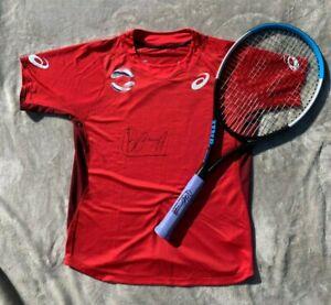 Borna Coric - MATCH WORN USED Racquet & Shirt (both signed) tennis ATP CUP 2020
