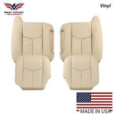 2003 2004 2005 2006 Chevy Tahoe Suburban Front Synthetic Leather Seat Cover Tan